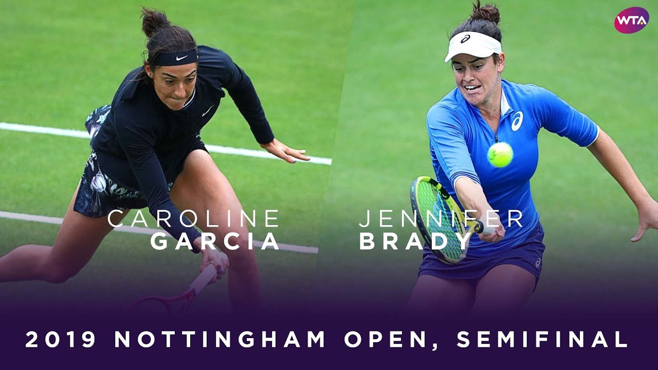 Caroline Garcia vs. Jennifer Brady | 2019 Nottingham Open Semifinal | WTA Highlights