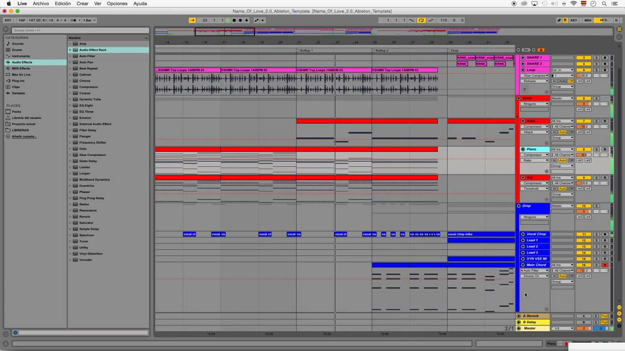 Ableton Template. lunacy chill trap ableton live 9 only template pml ...