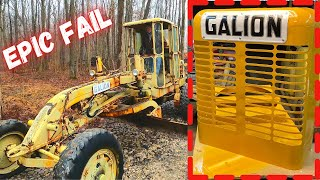 1960's Galion road grader, radiator repair gone wrong! + Fresh paint! Pt.7
