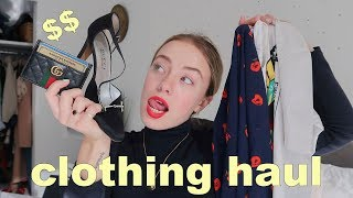 CLOTHING HAUL | Gucci, Prada, and thrifted :-)