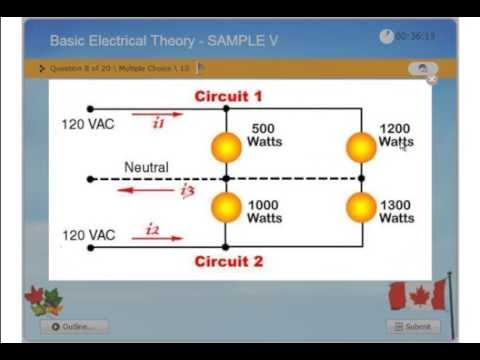Basic Electrical Theory - Practice Exam - Journayman 309A, Master ...