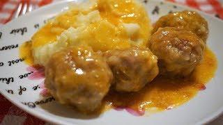 ТЕФТЕЛИ ёжики с рисом на сковороде в соусе/Meatballs in sauce