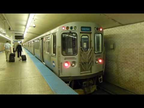 "CTA Transit: 1981 Budd Company 2600 Series ""L"" Blue Line Train at Logan Square (Forest Park Bound)"