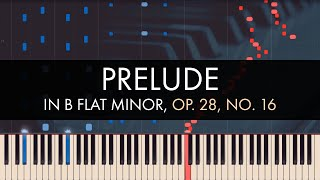 Frédéric Chopin - Prelude in B flat Minor, Op. 28, No. 16 (Synthesia)