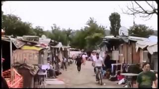 Kåkstäder i Italien utanför Rom - Tiggare