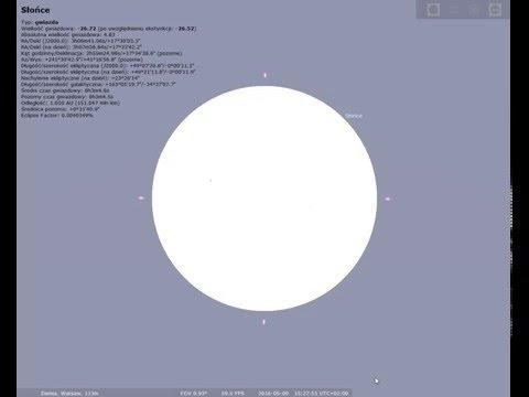Przej�cie Merkurego na tle tarczy S�o�ca - Tranzyt 9 maja
