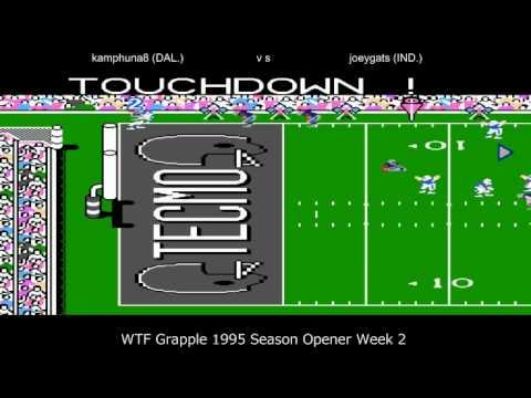 WTF Grapple 1995 Week 2 Dallas Cowboys vs Indianapolis Colts (joeygats) SEASON OPENER!