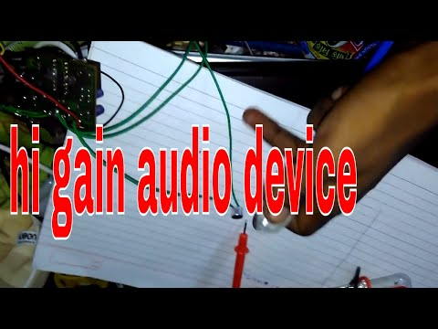 homemade audio device for musical instruments