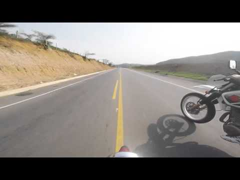 Kawasaki Victor S150 vs Suzuki DR650 1/4 Milla Anillo Vial Cúcuta (GO PRO HERO 4 1080P) 06/03/2016