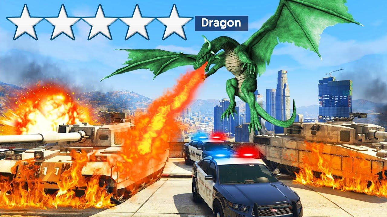 Playing As A DRAGON In GTA 5! (Mod) thumbnail