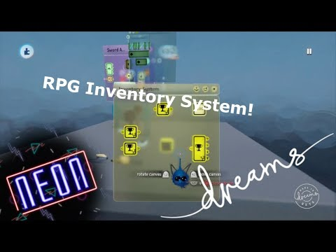 Dreams PS4 | RPG Inventory System (Basic) Tutorial