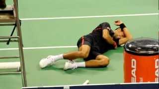 20120929 Djokovic Almagro Funny fighting in Taiwan