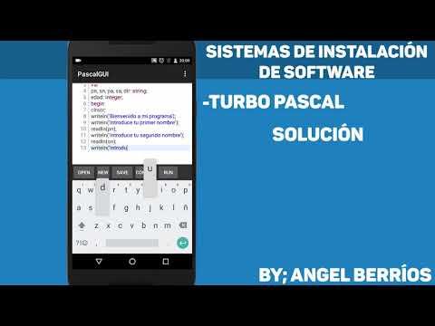 Programando En Turbo Pascal En Android