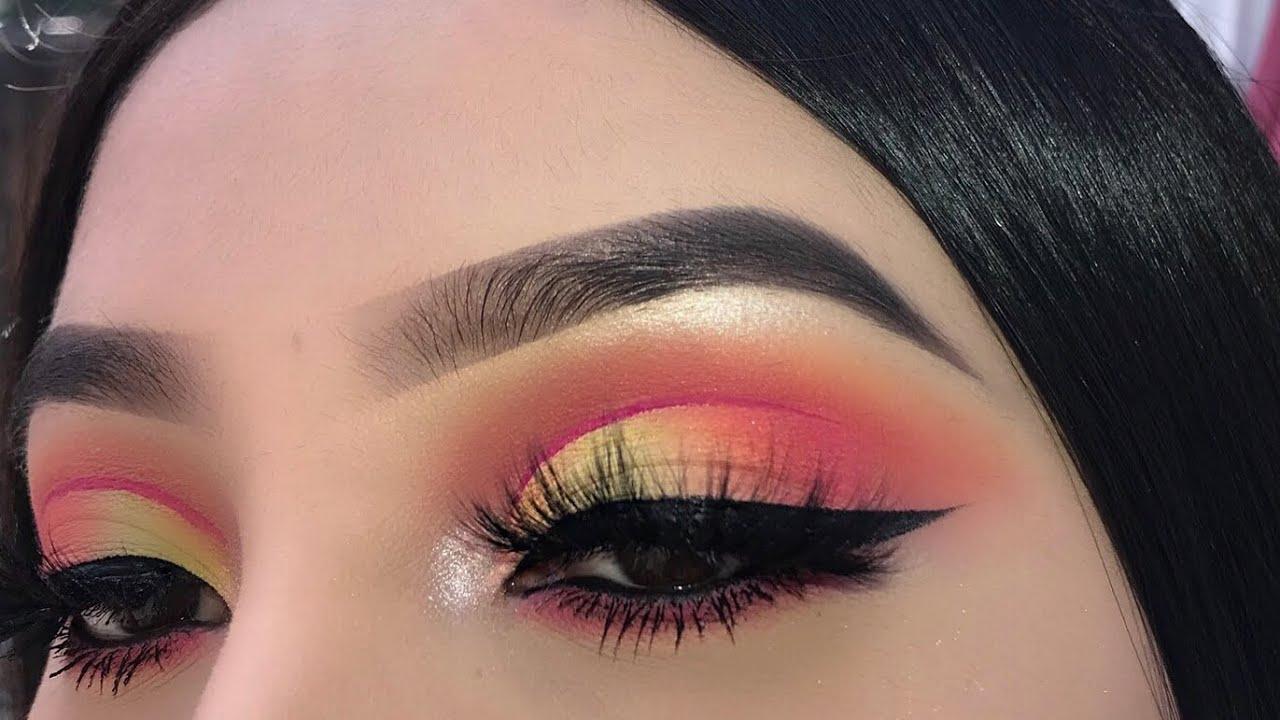 Andreea Reyes hot colorful makeup tutorial | jocy reyes