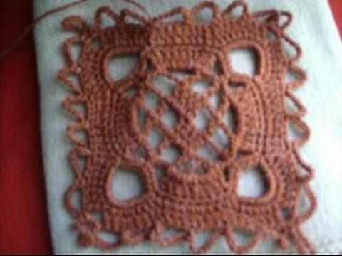 5 de 5 como tejer cuadro gorro terracota ganchillo crochet - Como tejer mantas al crochet ...