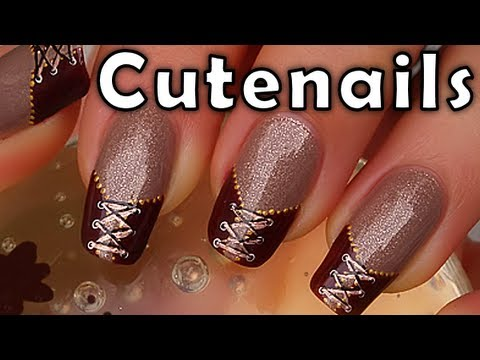 Double lace corset nail art pretty sexy youtube prinsesfo Images