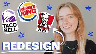 Redesigning Popular Fast Food Logos