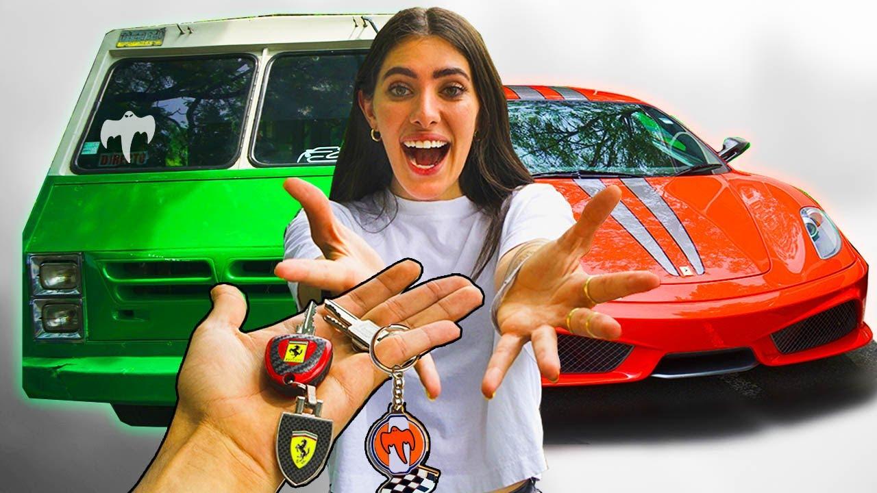 FERRARI vs TRANSPORTE PÚBLICO CHALLENGE! - Don Koenigsegg