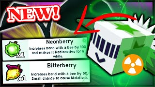 *NEW* RADIOACTIVE BEES, NEONBERRY BITTERBERRY, How To Mutate Bees | Roblox Bee Swarm Simulator
