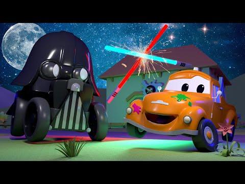 Ben est Dark Vador STAR WARS - L'Atelier de Peinture de Tom la Dépanneuse 🎨 Dessin animé
