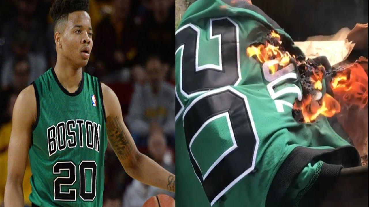 Celtics Fan BURNS Markelle Fultz Boston Jersey After Boston Trades No. 1  Pick To The 76ers b4d4e18f7