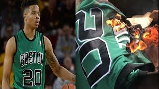 Celtics Fan BURNS Markelle Fultz Boston Jersey After Boston Trades No. 1 Pick To The 76ers
