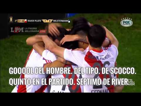 Traducido: Relator brasileño se vuelve loco con River Plate vs Wilstermann -