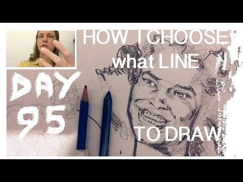 Day 95 - How to decide which lines to ink