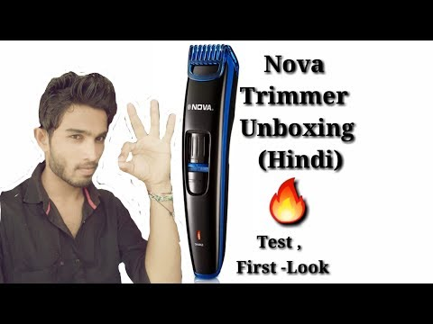 NOVA NHT-1086 PROFESSIONAL TRIMMER UNBOXING AND FULL REVIEW