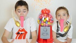 Machine à Bonbons Magique & Langues Géantes - Blague Gumball Machine Prank