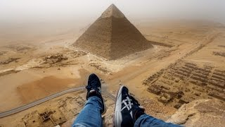guy climbs great pyramid in 8 minutes outrages world original hd footage