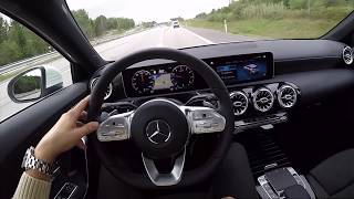 2018 New Mercedes Benz A 250 Class 60 FPS POV test drive acceleration