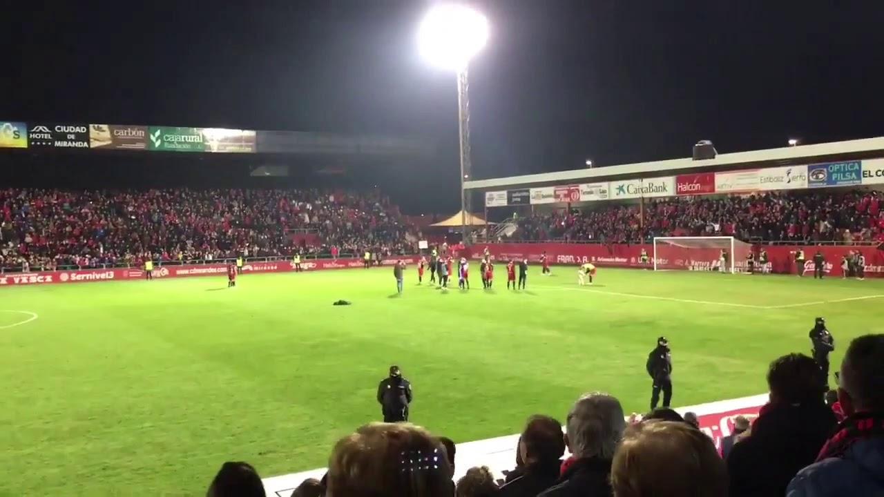 Download CD MIrandés 4-2 Villareal CF. El Mirandés semifinalista de la Copa del Rey. Celebración en Anduva