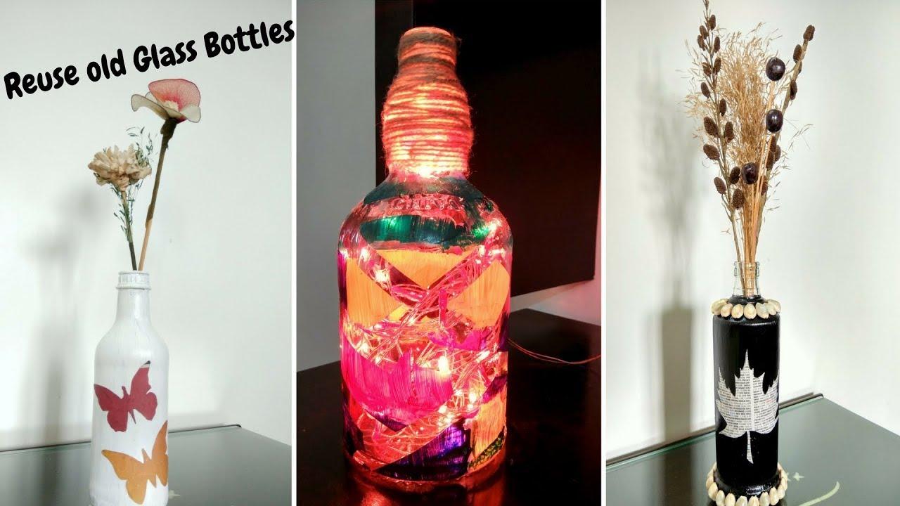 Old Glass Bottles Part - 33: DIY: Reuse Old Glass Bottles