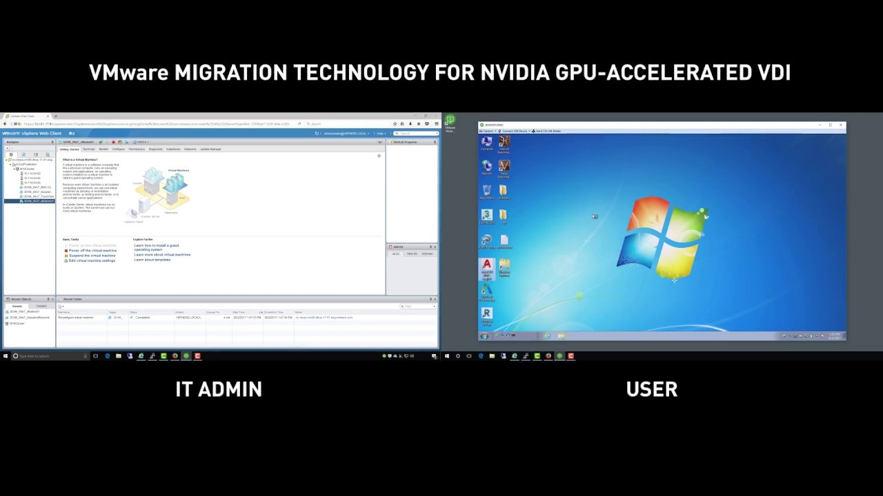 VMware Suspend and Resume Technology with NVIDIA Virtual GPUs