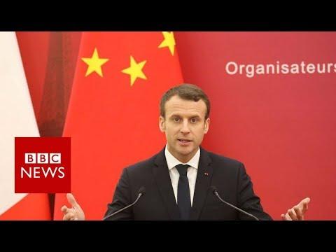 Macron amuses China with Chinese lesson- BBC News