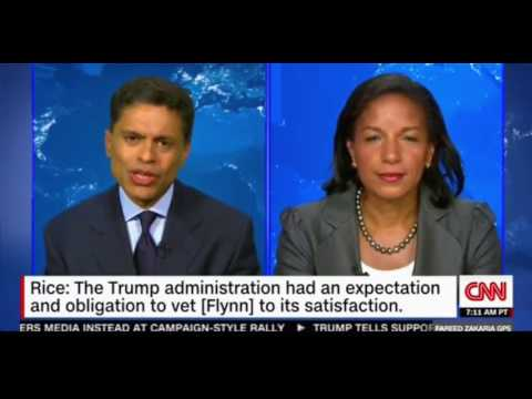 Susan Rice answers Donald Trumps accusations in an interview with CNN Faheed Zakaria