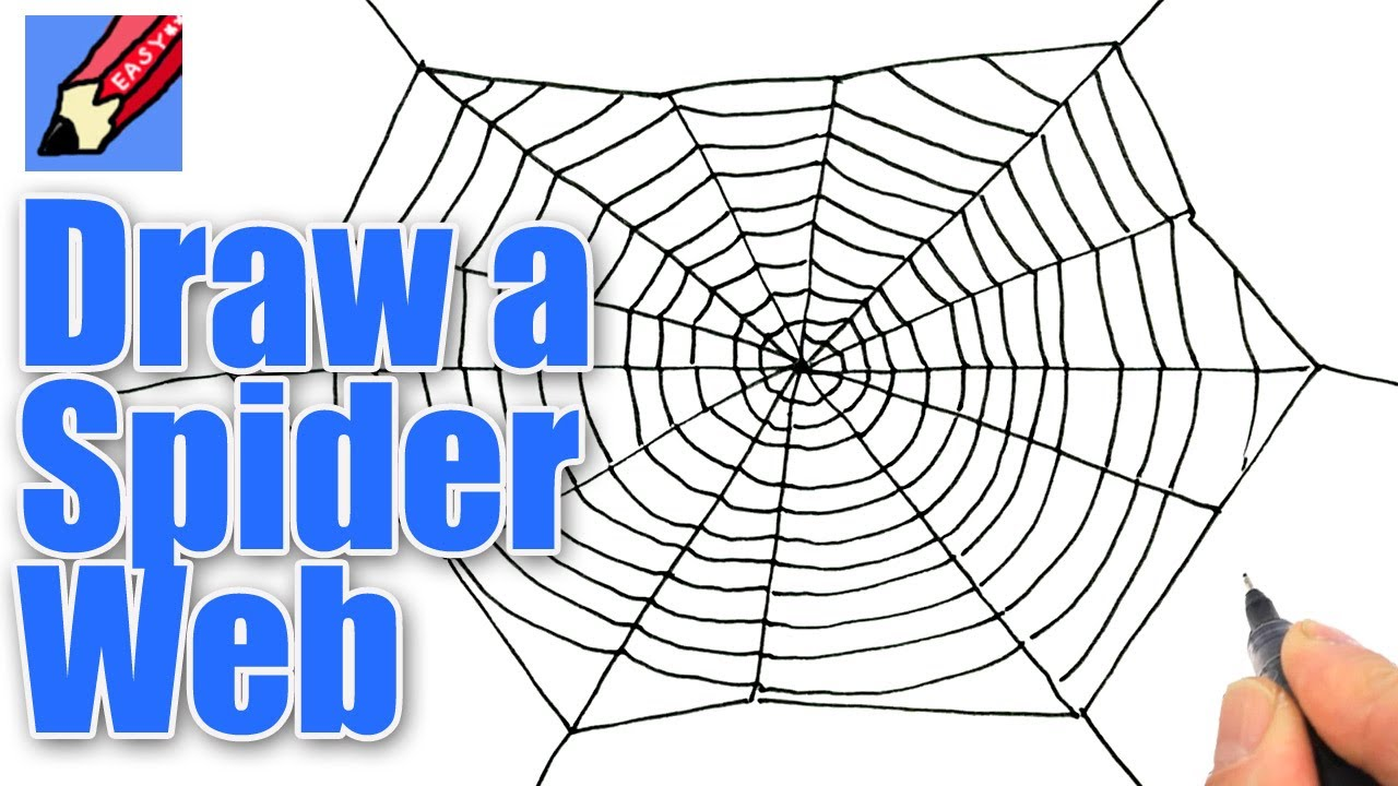 How To Draw A Spiders Web For Halloween Real Easy Youtube