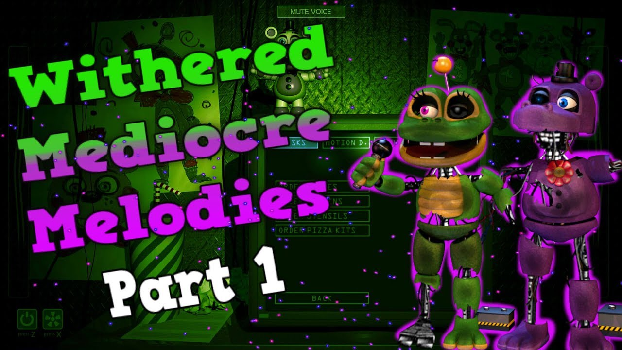[Fnaf | Speed Edit] Making Withered Mediocre Melodies! | Part 1
