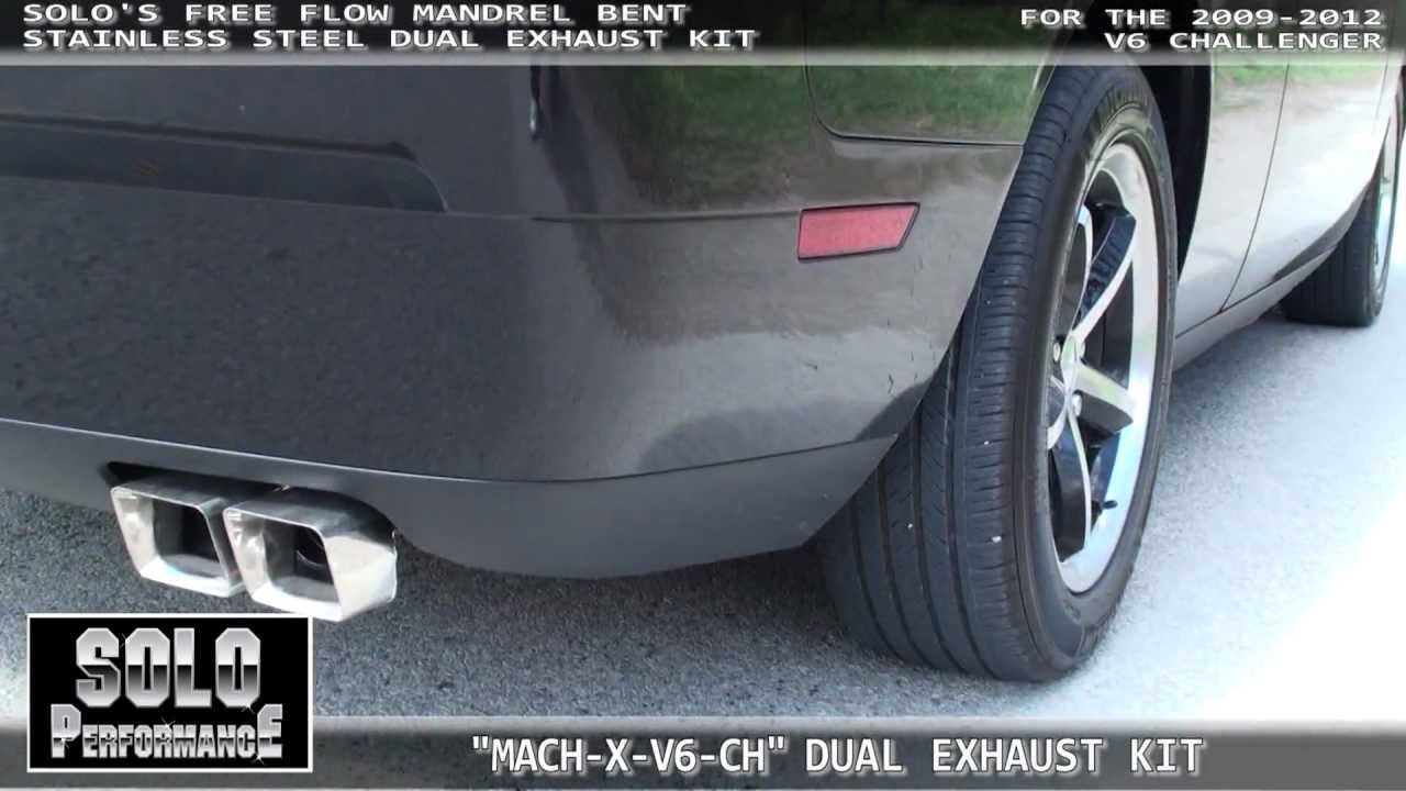 Dodge Challenger V6 Exhaust Kit By Solo Performance Youtube