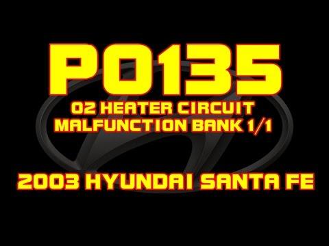 2015 Camry Wiring Diagram 2003 Hyundai Santa Fe P0135 O2 Sensor Heater Circuit