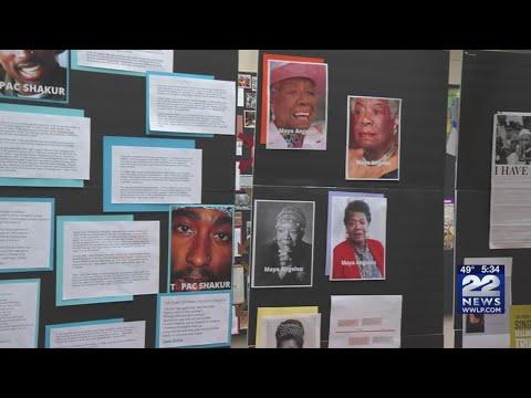 Easthampton High School students coordinate black history display