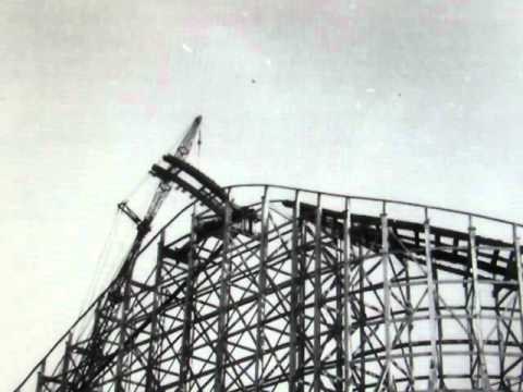 Demolition Of Playland's Airplane Coaster 1957