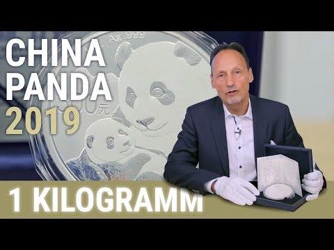 China Panda 2019 - 1 kg Silber als Polierte Platte