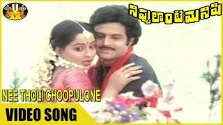 Nee Tholi Choopulone Video Song || Nippulanti Manishi Movie ||  Balakrishna, Radha || Sri Venkateswa