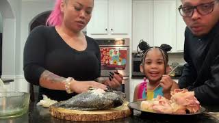 How to make scallops wrapped in bacon and fried tilapia