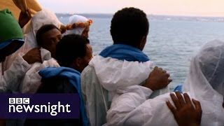 Escape to Europe: The migrants' story - BBC Newsnight