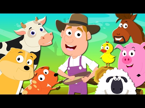 Old Macdonald Had A Farm | Nursery Rhymes | Kids Songs | Baby Rhymes | Farm Song | Kids Tv