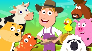 Old Macdonald Had A Farm | Nursery  Rhymes | Kids Songs | Baby Rhymes | Farm Song