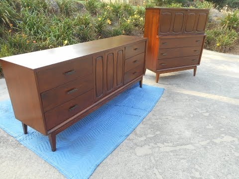Restoration of a Mid-Century Modern Bedroom Set